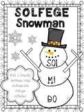 Solfege Syllables: Solfege Snowman