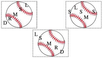 Solfege Staff Writing: Baseball Blast