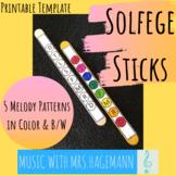 Solfege Sticks Template