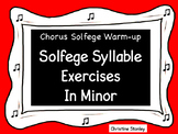 Solfege Syllable Exercises in Minor