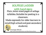 Solfege Syllable Ladder