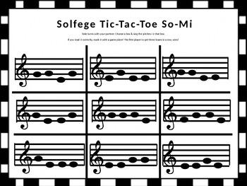 Solfege Tic Tac Toe