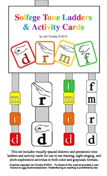 Solfege Tone Ladders and Activity Cards - Kodaly, Orff, and Ear Training