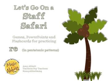 Solfége Staff Safari: re in penatonic patterns