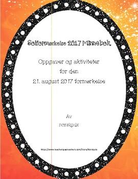 Solformørkelse 2017 Minnebok (norsk versjon)