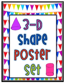 Solid 3D Shape Posters