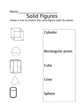 Solid 3D shapes matching