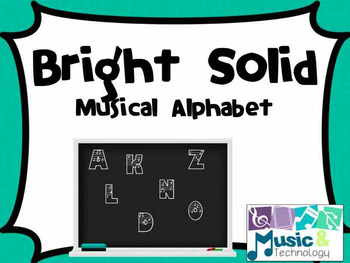 Bright Solid Background Musical Alphabet Posters