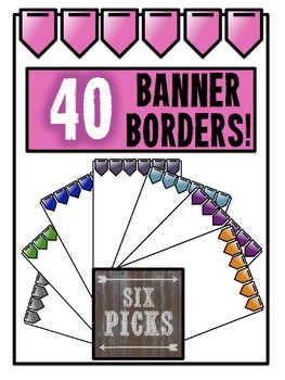 Solid Banner Borders {40 COLORS!}