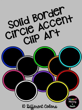 Solid Border Circle Accents-Clipart