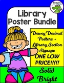Solid Bright Library Poster Bundle!!!! Dewey Decimal + Sec