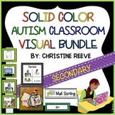 Autism Middle & High School Classroom Visual Set in Solid Colors (spec. ed)