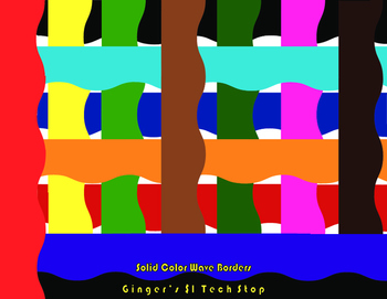 Solid Color Bulletin Board Borders * Waves * Wavey *