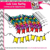 Solid Color Bunting Clip Art