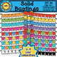 Solid Color Buntings Clip Art