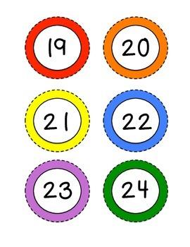 Solid Color Classroom Labels