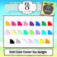 Solid Color Corner Sun Badges