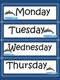 Solid Color Daily Schedule Signs