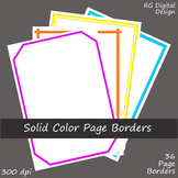 Solid Color Plain Page Borders Clipart Clip Art for TPT Sellers