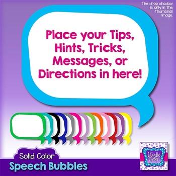 Solid Color Speech Bubble Clipart