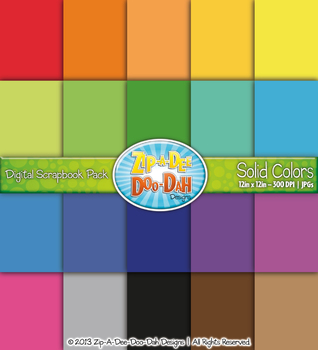 FREE Solid Colors Digital Scrapbook Pack {Zip-A-Dee-Doo-Dah Designs}