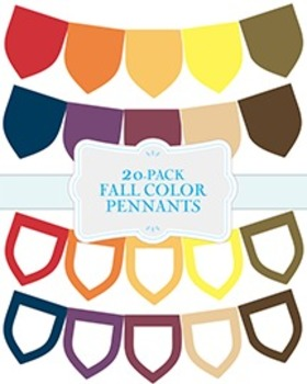 "Solid Fall Color Pennants - 20-Pack - 8.5"" x 11"""
