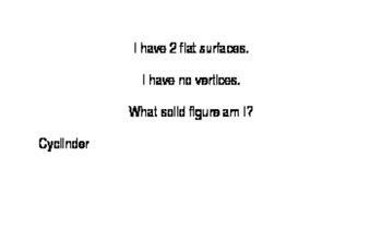 Solid Figure Mystery Cards - Editable