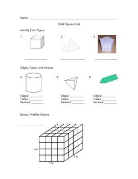 Solid Figure Quiz