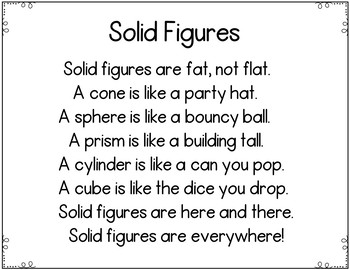 Solid Figures (A Pocket Chart and Book Making Activity)