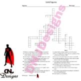 Solid Figures Crossword Puzzle