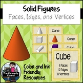 Solid Figures: Solid 3D Shapes - Faces, Edges, and Vertices