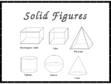 Solid Figures (Flat Faces, Vertices, Edges)