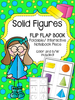 Solid Figures. Flip Flap Book. Shapes. Foldable Interactive Notebook Piece