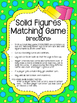 Solid Figures Matching Game. Shapes. Math Center