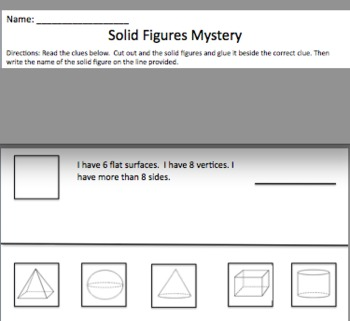Solid Figures Mystery Clues