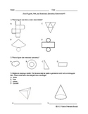 Solid Figures, Nets, and Rotational Symmetry Homework (5 a