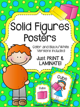 Solid Figures. Posters. Shapes. Cube. Cylinder. Cone. Prism. Pyramid
