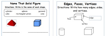 Solid Figures Shapes Integrating Reading, Writing, and Science