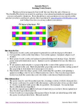 Solid Figures / Shapes Multiple Choice Learning Center Game