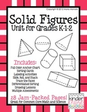 Solid Figures Unit for Grades K-1-2 with Differentiated Activities
