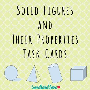 Solid Figures and Their Properties Task Cards