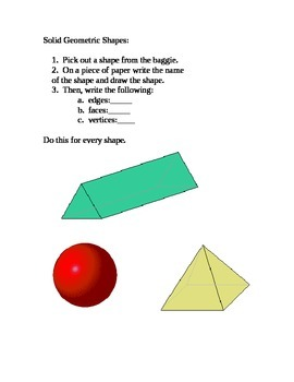 Solid Geometric Shapes Center