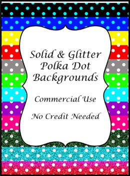 Solid & Glitter Polka Dot Patterns