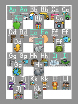 Solid Gray Classroom Alphabet