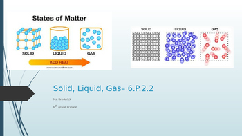 Solid, Liquid, Gas
