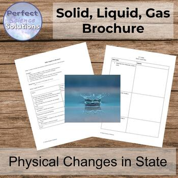 Solid, Liquid, Gas Brochure