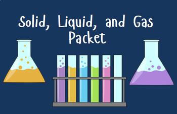 Solid, Liquid, Gas Packet. Properties of Matter