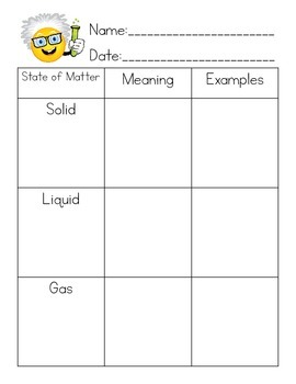 Solid Liquid Gas Variety Packet