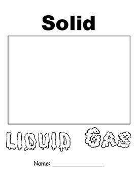 Solid, Liquid, Gas Workbook Cover