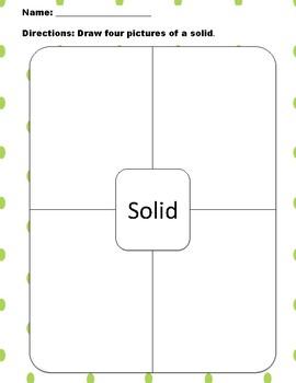 Solid Liquid Gas Worksheets